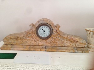 Beautiful clock made from Sienna marble.